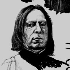 FANART - HP - Snape Studies 1